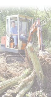 builder's digger at work