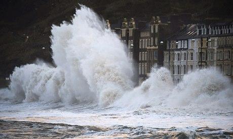 storm waves on Welsh coast