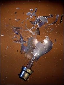 bursting light bulb
